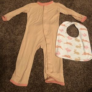 Other - 3-6 month kickee coverall and bib